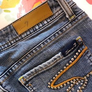 🎄Seven7 brand blue jeans tag size 30